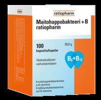 Maitohappobakteeri + B ratiopharm 100 kaps.