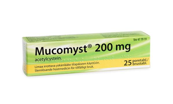 hostmediciner och slemlösande medel