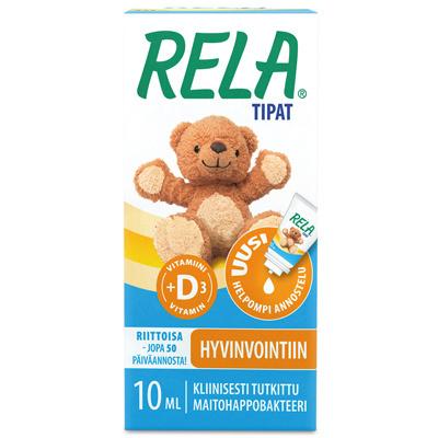Reladrops + D-vitamiini tipat 10 ml
