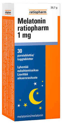 Melatonin Ratiopharm 1 mg 30 tuggtabl.
