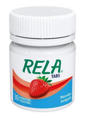 Rela Tabs mansikka 30 tablettia