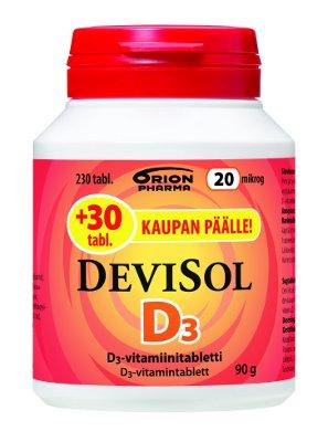 Devisol 20 mikrog 230 tablettia