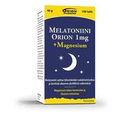Melatoniini Orion 1 mg + magnesium 100 tabletter