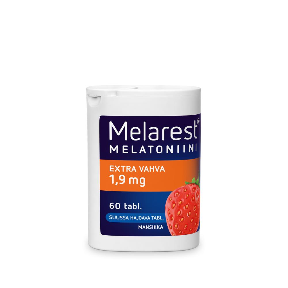 Melarest Extra Vahva 1,9 mg mansikka 60 tablettia