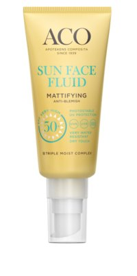 Aco Sun Face Fluid Mattifying SPF 50+ oparfymerad 40 ml