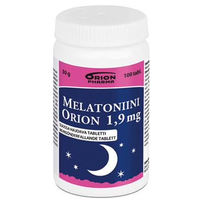 Melatoniini Orion 1,9 mg 100 kpl