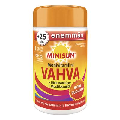 Minisun Vahva Monivitamiini 120 + 25 tablettia
