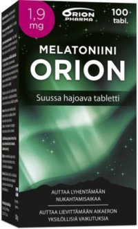 Melatoniini Orion 1,9 mg 100 munsönderfallande tabletter